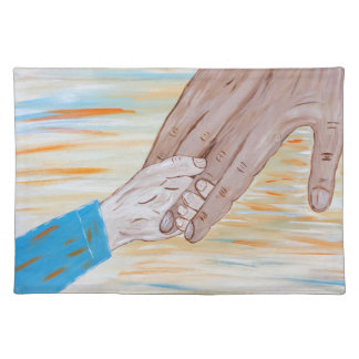 Child holding Father's hand Placemat
