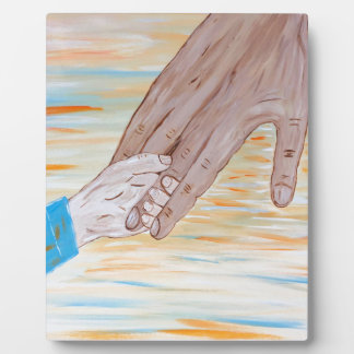 Child holding Father's hand Plaque