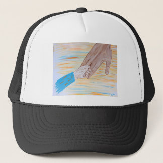 Child holding Father's hand Trucker Hat