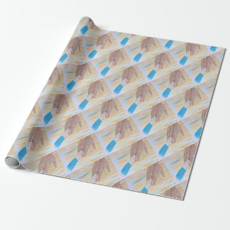 Child holding Father's hand Wrapping Paper