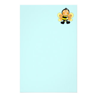 Child in a bee costume stationery