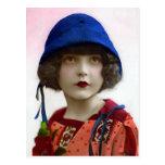 """Child in Blue Hat"" Vintage Portrait Post Card"