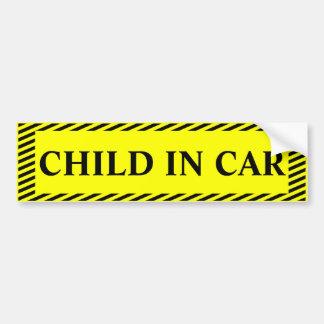 Child in car bumper sticker