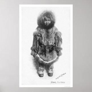 Child In Fur Nome Alaska 1920 Poster