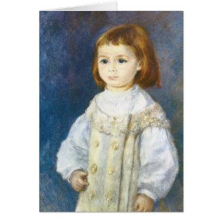 Child in White by Pierre Auguste Renoir Card