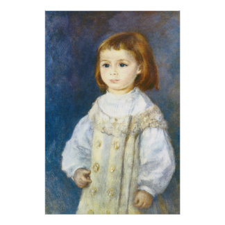Child in White by Pierre Auguste Renoir Poster