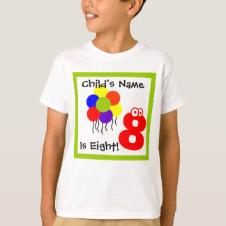 child is eight ,I'm 8, eigth Birthday,t-shirt T-Shirt