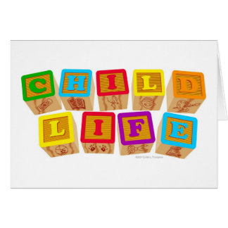 "Child Life ""Blocks"" Notecards Card"