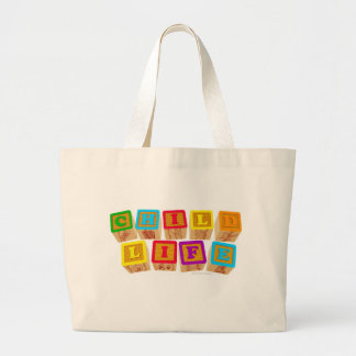 Child Life Blocks totebag Large Tote Bag
