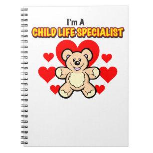 Child Life Specialist Teddy Bear Notebook