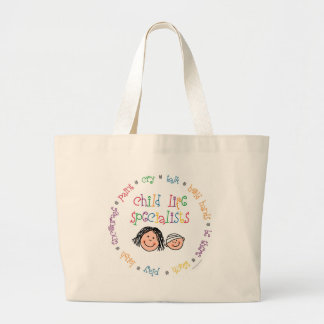 Child Life Specialist Totebag Large Tote Bag