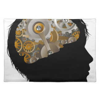 Child Machine Workings Gears Cogs Brain Placemat
