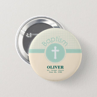 Child of God Baptism, Gender Neutral Green 2 Inch Round Button