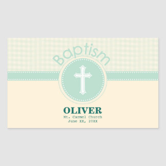 Child of God Baptism, Gender Neutral Green Sticker