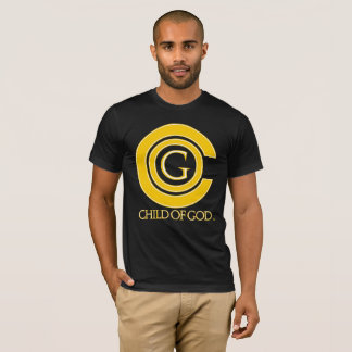 Child of GOD black T with yellow and white logo T-Shirt