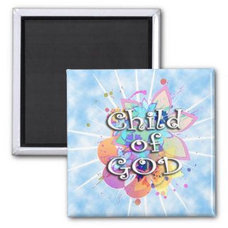 Child of God, Pastel Square Magnet