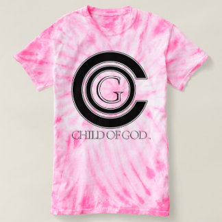 Child of GOD womens cyclone tiedye T-shirt