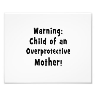child of overprotective mother black.png photo print