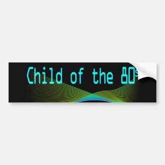 Child of the 80s Numper Sticker