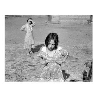 Child of the Depression Postcard