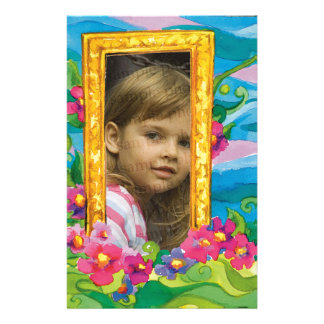 Child Photo Frame with cute flowers Stationery
