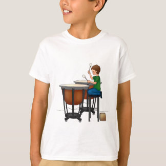 Child playing timpani T-Shirt