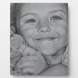 Child portrait plaque