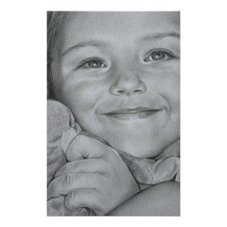Child portrait stationery