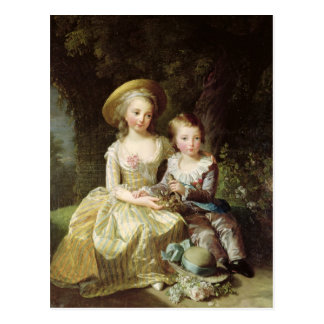 Child portraits of Marie-Therese-Charlotte Postcard