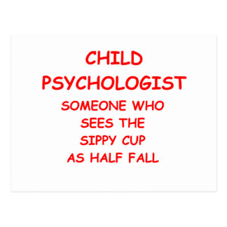 child psychologist postcard