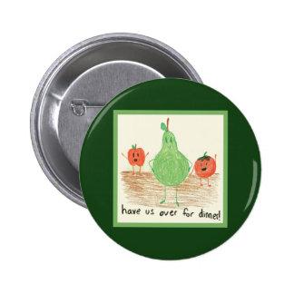 Child s Art Green Pinback Buttons