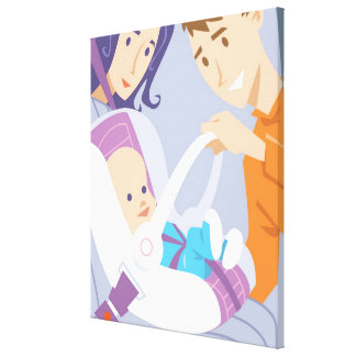 Child Safety Seat Canvas Print