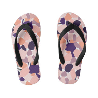 Child sandals with Terrazzomuster purple orange