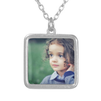 child silver plated necklace