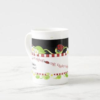 Child Size Teacup for Tea Parties, Ladybug flower Tea Cup