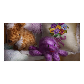 Child - Toy - Octopus in my closet Customized Photo Card