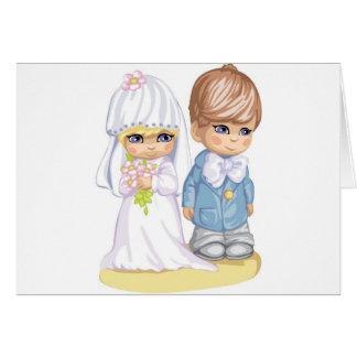 Child Wedding Dress Up Second Design Card
