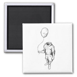 Child with a balloon Square Magnet