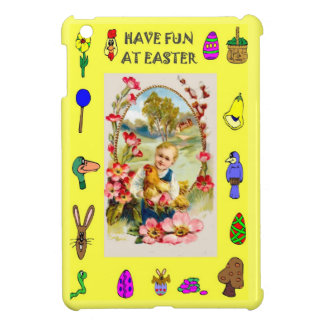 Child with a hen iPad mini case