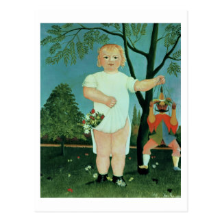 Child with a Puppet, c.1903 (oil on canvas) Postcard