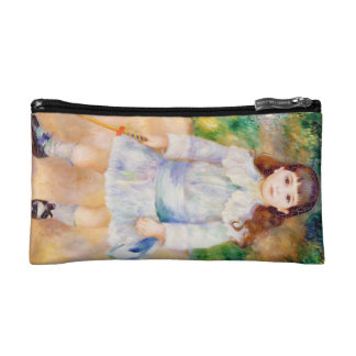 Child with a Whip Pierre Auguste Renoir painting Makeup Bags