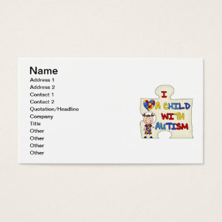 Child WIth Autism Brunette Girl 2 Business Card