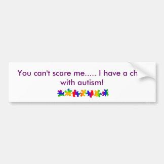 Child with autism bumper sticker