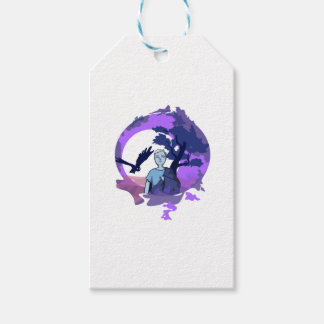 Child with blanket in the dream country gift tags