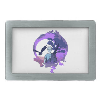 Child with blanket in the dream country rectangular belt buckle