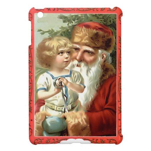 Child  with Santa Case For The iPad Mini