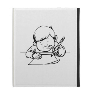 Child Writing iPad Folio Cases