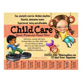Childcare. Soin de jour. Modèle personnalisable Prospectus 21,6 Cm X 24,94 Cm