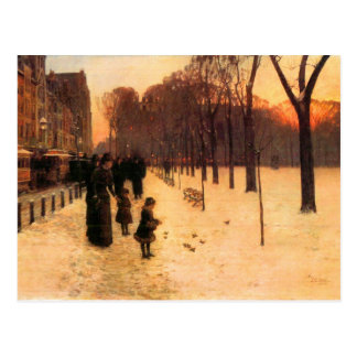Childe Hassam - Boston in everyday twilight Postcard