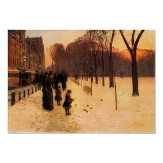 Childe Hassam - Boston in everyday twilight Poster